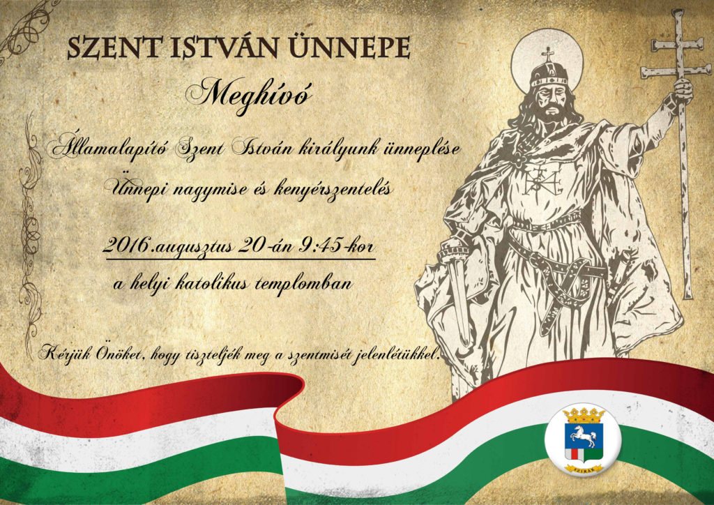 Szent István királyunk ünneplése