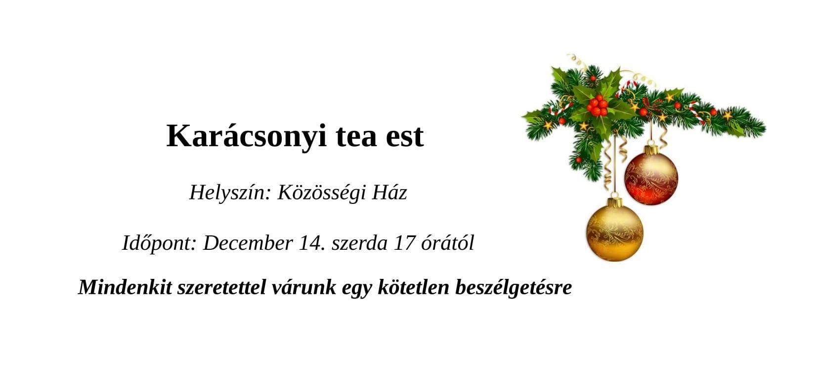 Karácsonyi tea est