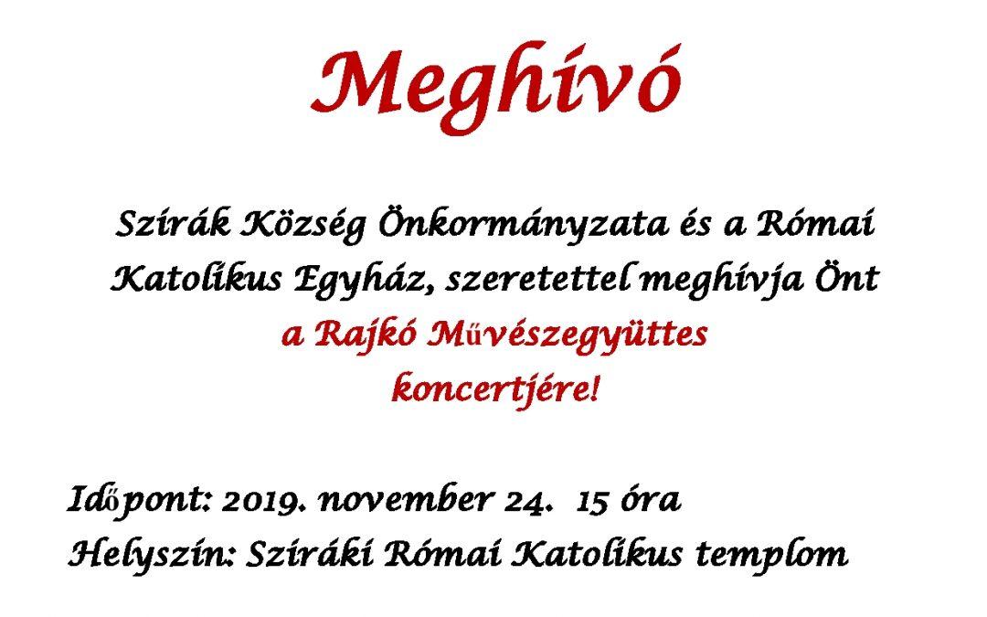 Rajkó Művészegyüttes Koncertje