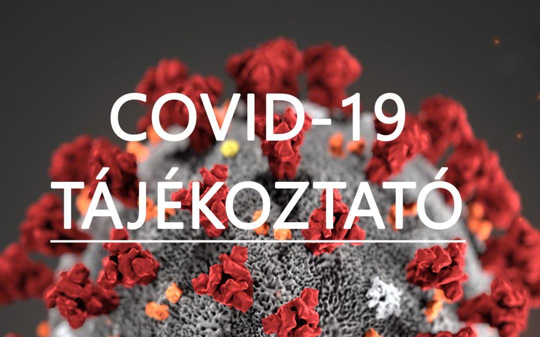 Koronavírussal kapcsolatos tájékoztatók