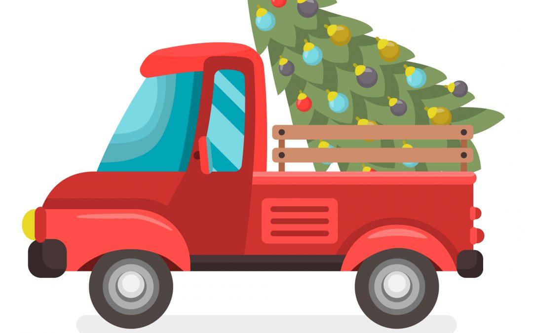 Karácsonyfák elszállítása